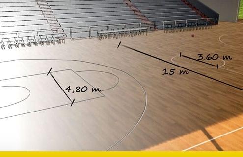 come progettare un campo da basket
