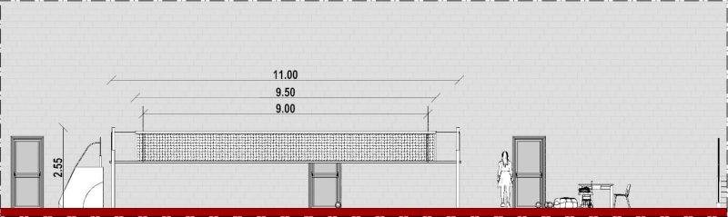 progetto campo da pallavolo - sezione B-B