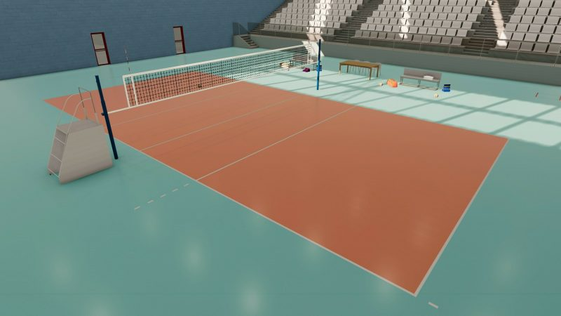 progetto campo da pallavolo - sintetico
