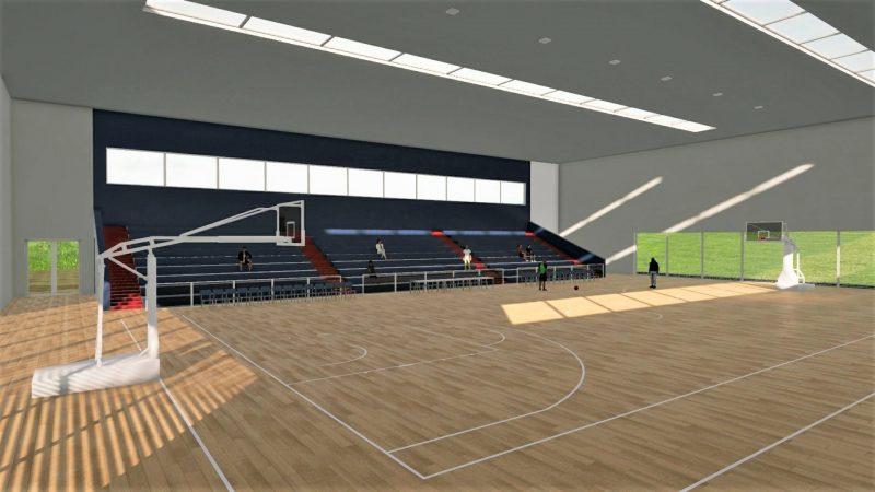 Progetto di un campo da basket dimensioni e dwg biblus bim