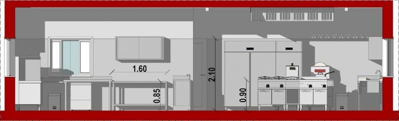 Progetto di una cucina per ristorante con norme e dwg | BibLus-BIM