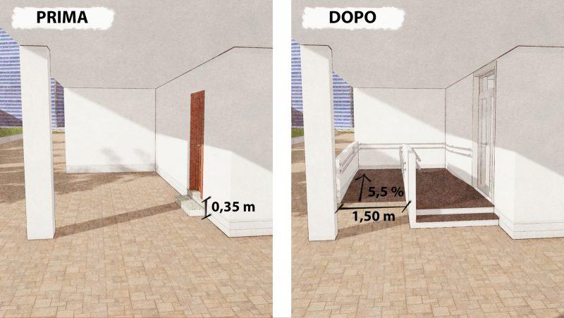 abbattimento delle barriere architettoniche - rampa1