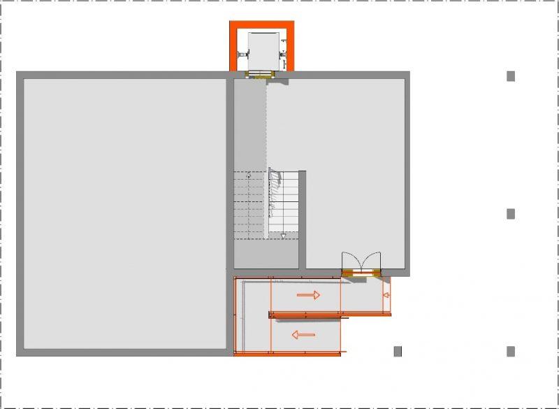 Abbattimento delle barriere architettoniche - Pianta