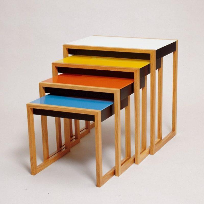 Bauhaus art - tavolini incastro Albers