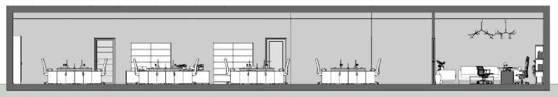 come progettare un ufficio - Sezione A-A