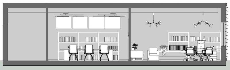 come progettare un ufficio - Sezione B-B
