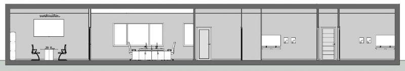 come progettare un ufficio - Sezione C-C