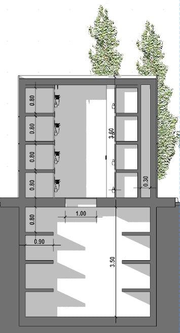 progetto di edicola funeraria -sezione-b-b