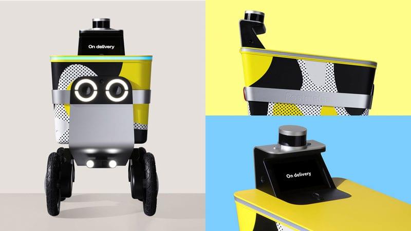design robot consegne domicilio