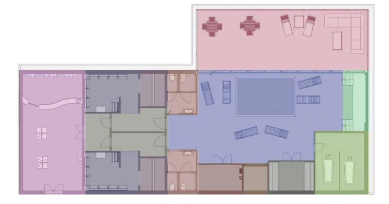 Progetto di un centro benessere - Schema Ambienti