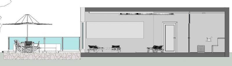 Progetto di un centro benessere - sezione B-B