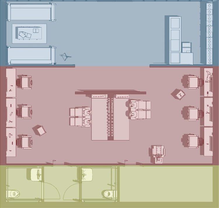 progettare un negozio di parrucchiere _ suddivisione zone
