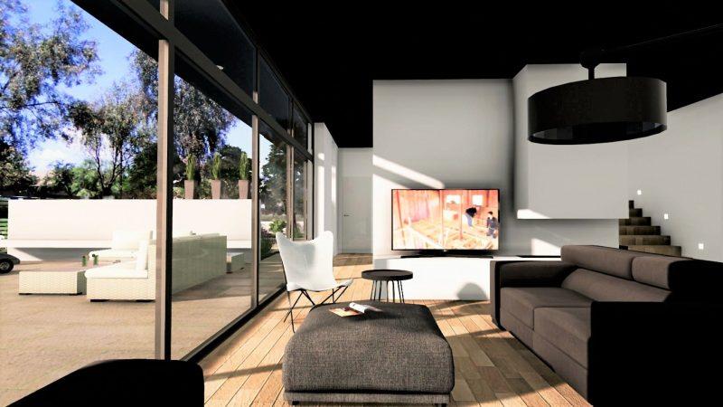 progetto di una casa unifamiliare - interno