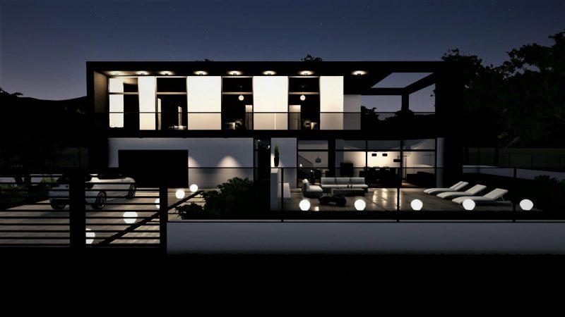 progetto di una casa unifamiliare - rendering
