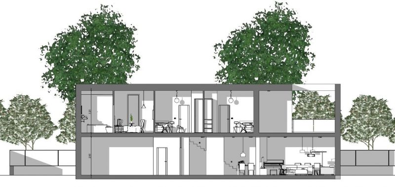progetto di una casa unifamiliare - sezione-a-a