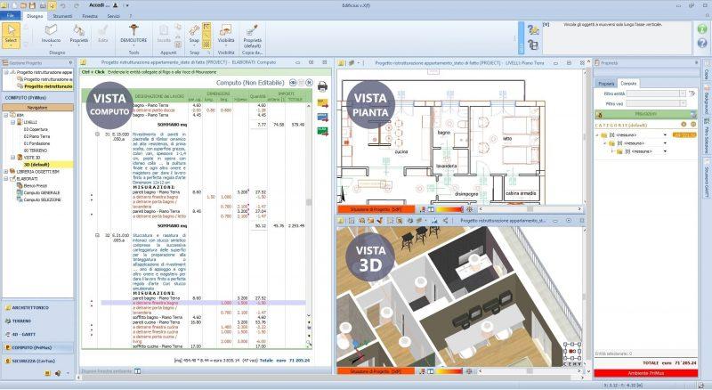 stima dei costi BIM 5D Edificius
