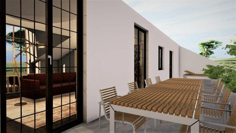 progetto di recupero di un sottotetto -rendering terrazzo 1
