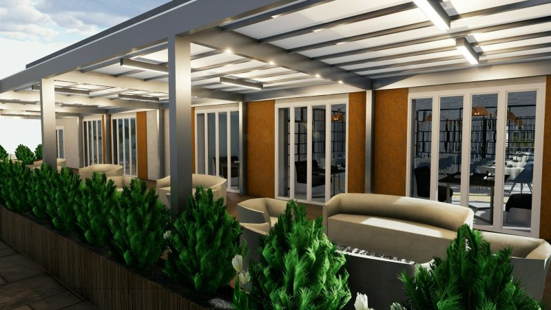 progetto di un ristorante - esterno