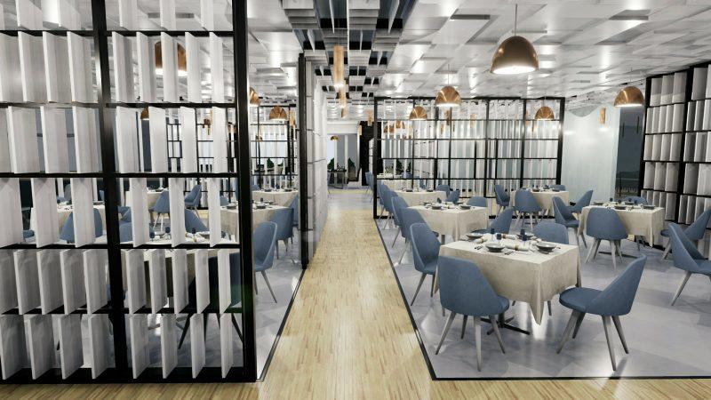 progetto di un ristorante - interno