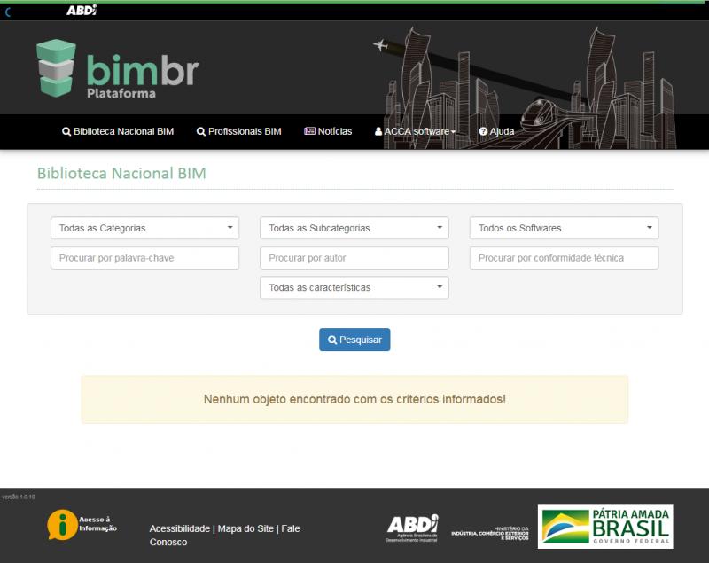 Piattaforma BIMBR, ricerca oggetti