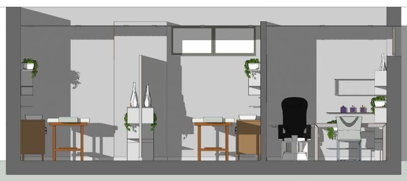 Progettazione di un centro estetico - Sezione B-B