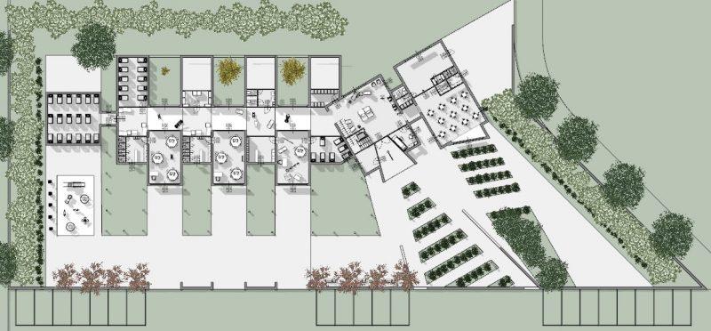 progettazione di un asilo nido - pianta piano terra
