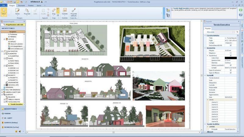 progettazione di un asilo nido - tavola grafica