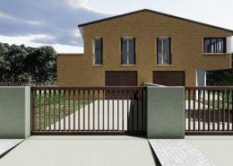 Casa bifamiliare | Vista del fronte principale lato Nord