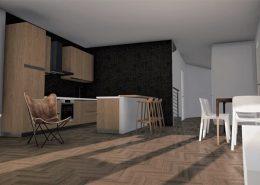 Casa bifamiliare | Soggiorno/pranzo: vista verso la cucina