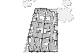 Casa bifamiliare | Pianta piano primo