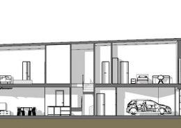 Casa bifamiliare | Sezione longitudinale B-B