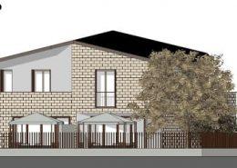 Casa bifamiliare | Prospetto posteriore sud