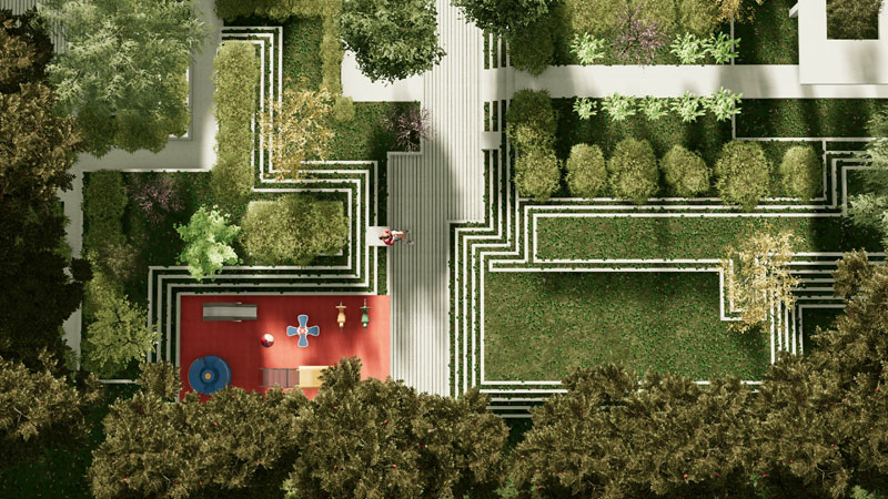 progettazione delle aree verdi - Realizzazione di gradoni