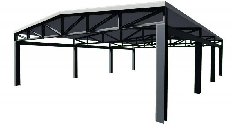 come progettare un tetto - tetto 2 falde in acciaio