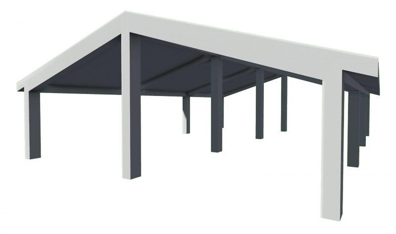 come progettare un tetto - tetto 2 falde in calcestruzzo