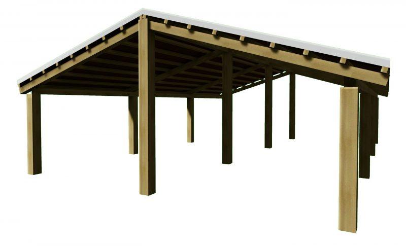 come progettare un tetto - tetto 2 falde in legno