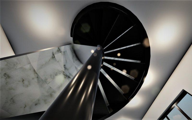 Render scala realizzato con Edificius