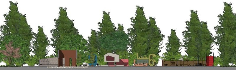 progettazione di un parco giochi - sezione-a-a