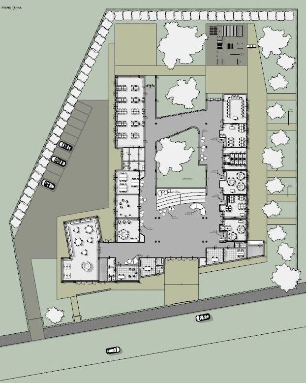 progettazione di una scuola - pianta piano terra
