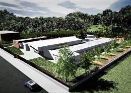 progettazione di una scuola - vista dall'alto