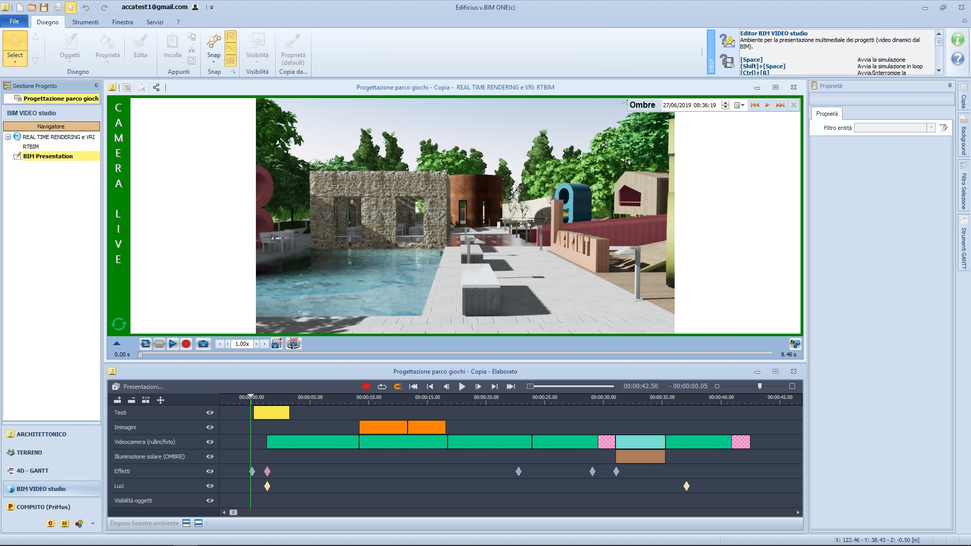 BIM Video Studio - valorizzare un progetto di sistemazione di uno spazio aperto