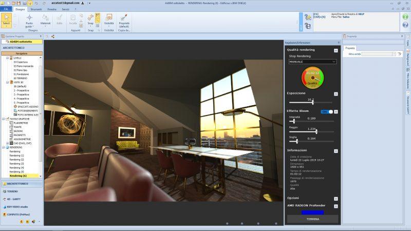 fare render fotorealistici _ Interfaccia Render