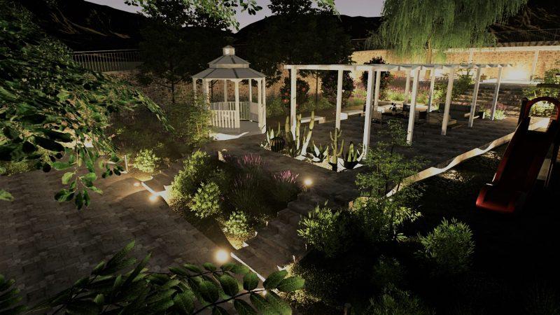 Come progettare un giardino schemi immagini ed esempi da for Rendering giardino