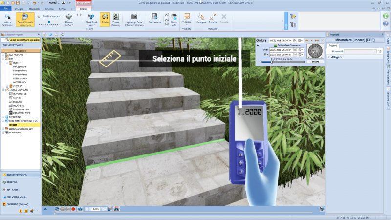 realtà virtuale nella progettazione di un giardino - Strumento-di-misurazione