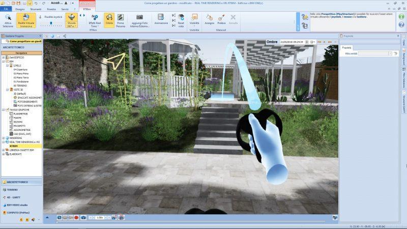 realtà virtuale nella progettazione di un giardino - Navigazione-del-modello