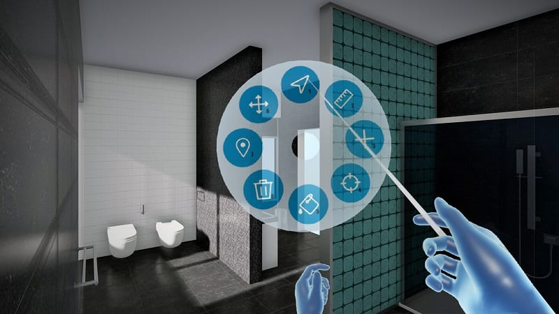 progettare un bagno con la realtà virtuale