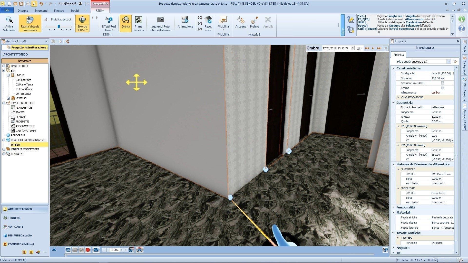 Modifica del modello in VRi