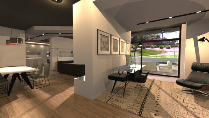 imagen render de interior realizado con Edificus