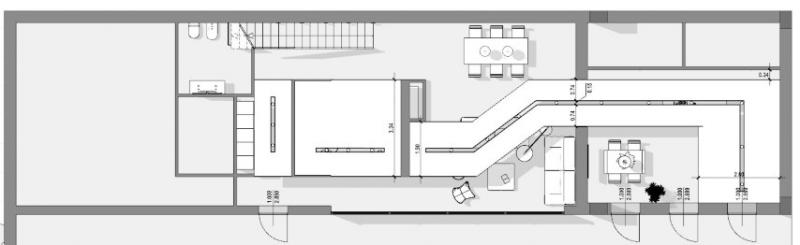 planta en blanco y negro de un falso techo de carton yeso en un interior