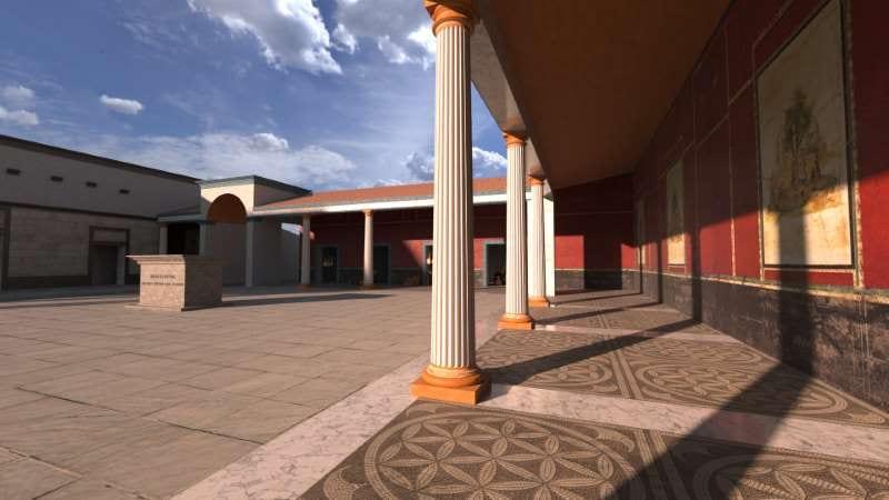 ricostruzione del modello BIM - il Foro romano di Liternum